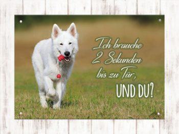 Hundeschild Gartentor