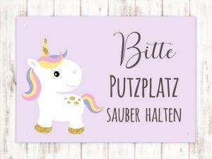 Sophie Kunterbunt Putzplatz Sauber