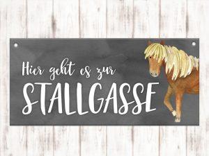 Stallschild Stallgasse