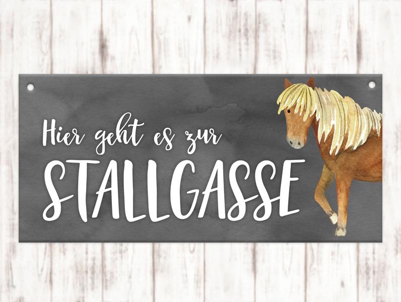 Sophie_Kunterbunt_Stallschild_Stallgasse