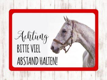 Sophie Kunterbunt Sticker Pferdeanhänger Abstand Halten