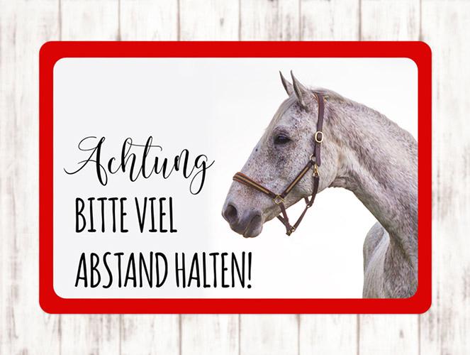 Sophie_Kunterbunt_Sticker_Pferdeanhänger_Abstand_Halten