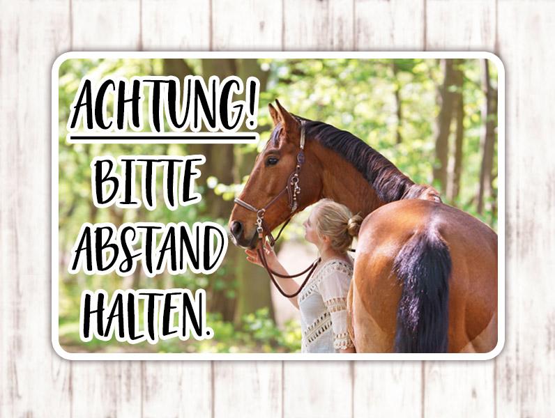 Sophie_Kunterbunt_Sticker_Pferdeanhänger_Abstand_Halten3