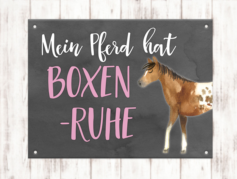 Sophie_Kunterbunt_Warnschild_Boxenruhe