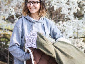 Sophie Kunterbunt Sattelschoner Olive3