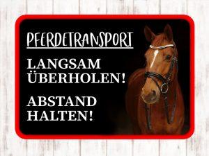 Aufkleber Anhänger Ponytransport