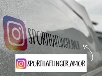 Anhänger Aufkleber Instagram Logo *tansparent*