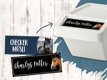 Sticker Futtertonnen Individuell Foto